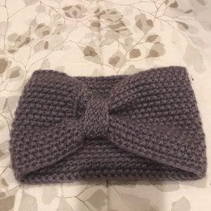 Slate Grey Knit head wrap.